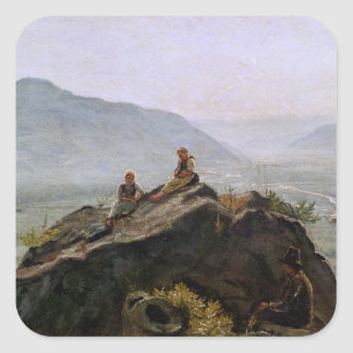 View of the Adige Valley, 1831 Square Sticker
