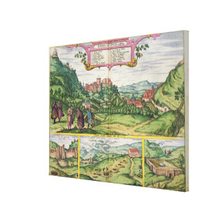 View of the Alhambra, from 'Civitates Orbis Terrar Canvas Print