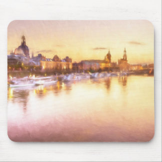 View of the Altstadt over the Elbe in Dresden Mouse Pad