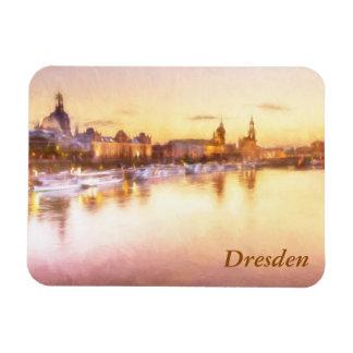 View of the Altstadt over the Elbe in Dresden Rectangular Photo Magnet