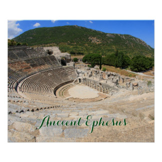 View of the ancient amphitheatre in Ephesus-turkey Poster