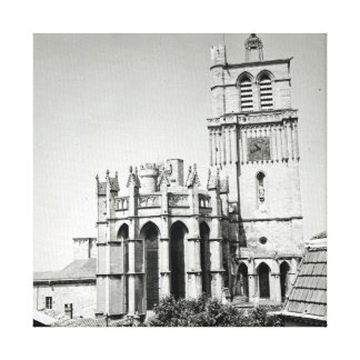 View of the apse and the tower, built canvas prints