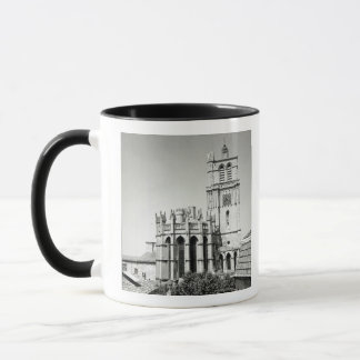 View of the apse and the tower, built mug