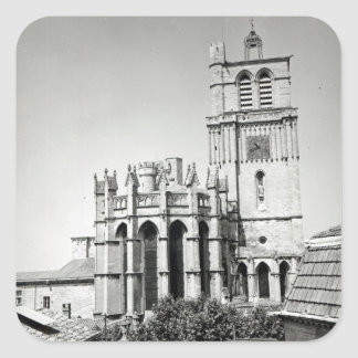 View of the apse and the tower, built square sticker