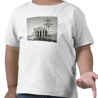 View of the apse and the tower, built tee shirts