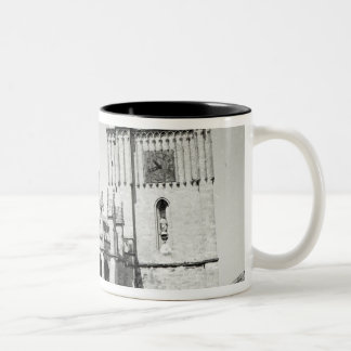 View of the apse and the tower, built Two-Tone coffee mug