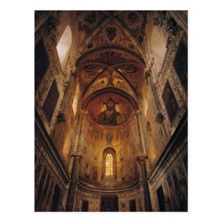 View of the apse with the Christ Pantocrator Postcard