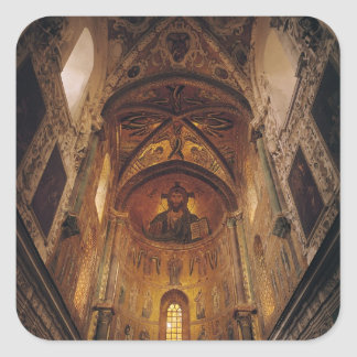 View of the apse with the Christ Pantocrator Square Stickers