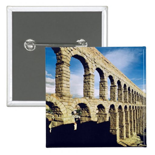 View of the aqueduct 2 inch square button