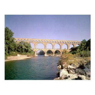 View of the aqueduct, built c.19 BC Postcard