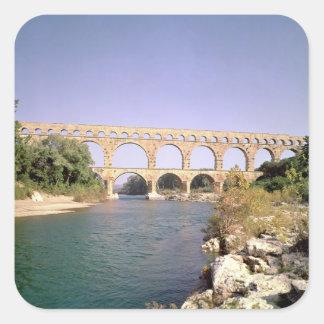 View of the aqueduct, built c.19 BC Square Sticker