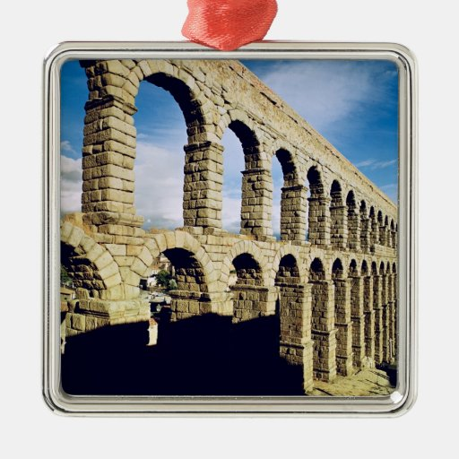 View of the aqueduct christmas tree ornament