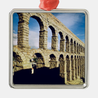 View of the aqueduct square metal christmas ornament