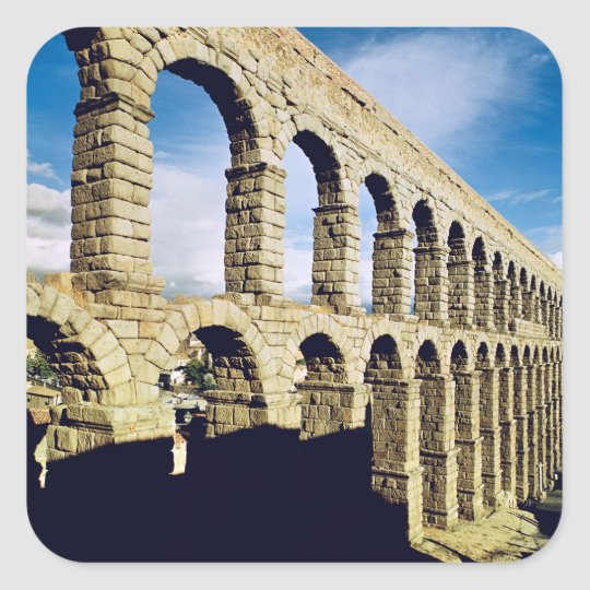 View of the aqueduct square sticker