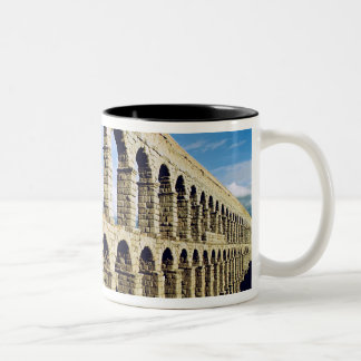 View of the aqueduct Two-Tone coffee mug