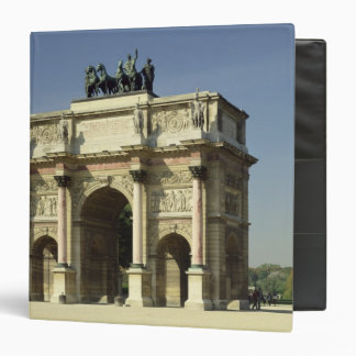 View of the Arc de Triomphe du Carrousel 3 Ring Binder