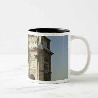 View of the Arc de Triomphe du Carrousel Two-Tone Coffee Mug