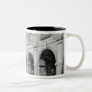 View of the arcade of Place des Vosges Two-Tone Coffee Mug