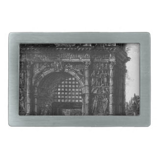 View of the Arch of Benevento in the Kingdom... Rectangular Belt Buckle