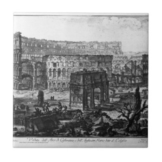 View of the Arch of Constantine and the Flavian Ceramic Tile