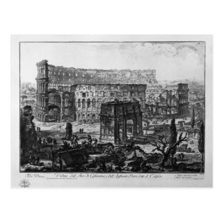 View of the Arch of Constantine and the Flavian Postcard