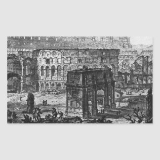 View of the Arch of Constantine and the Flavian Rectangular Sticker