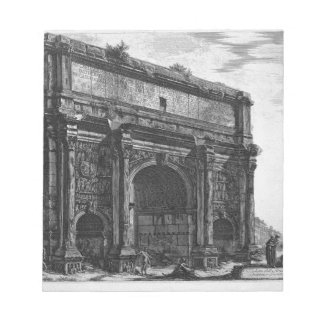 View of the Arch of Septimius Severus by Giovanni Notepad