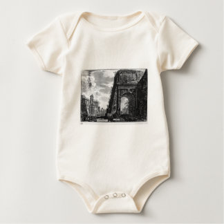 View of the Arch of Titus by Giovanni Battista Baby Bodysuit