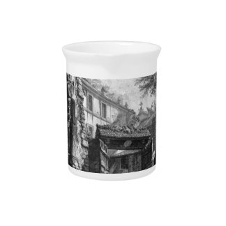 View of the Arch of Titus by Giovanni Battista Beverage Pitcher