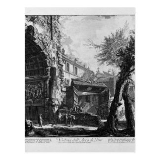 View of the Arch of Titus by Giovanni Battista Postcard