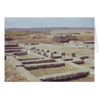 View of the archaeological site, 1450-1200 BC Card