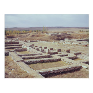 View of the archaeological site, 1450-1200 BC Postcard