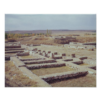 View of the archaeological site, 1450-1200 BC Poster