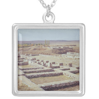 View of the archaeological site, 1450-1200 BC Silver Plated Necklace