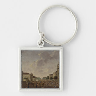 View of the armory and Unter den Linden Street Silver-Colored Square Keychain