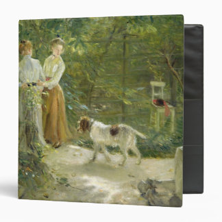 View of the artist's garden with his daughters 3 ring binder