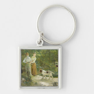 View of the artist's garden with his daughters keychain