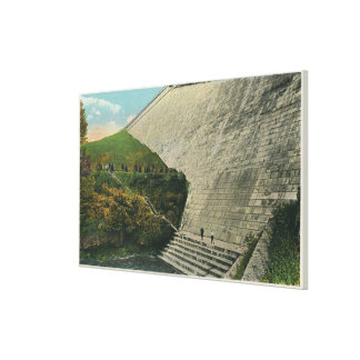 View of the Ashokan Reservoir Dam Stretched Canvas Prints