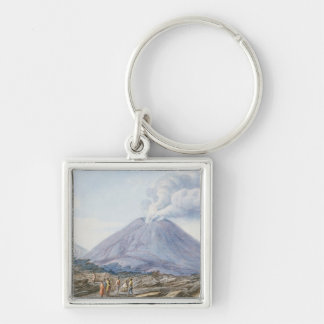 View of the Atrio di Cavallo between Somma and Ves Silver-Colored Square Keychain