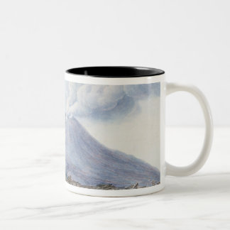 View of the Atrio di Cavallo between Somma and Ves Two-Tone Coffee Mug