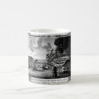 View of The Attack on Bunker's Hill_War Image Coffee Mug