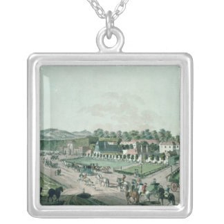 View of the Augarten Palace and Park, Vienna Silver Plated Necklace