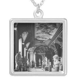View of the Augustus room Silver Plated Necklace