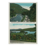View of the Ausable River and Schroon Lake Poster