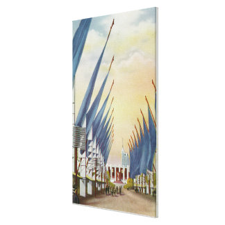 View of the Avenue of Flags, 1934 World's Fair Canvas Print