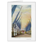 View of the Avenue of Flags, 1934 World's Fair Greeting Card
