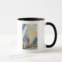 View of the Avenue of Flags, 1934 World's Fair Mug