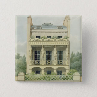 View of the Back Front of Henry Phillip Hope's hou Pinback Button