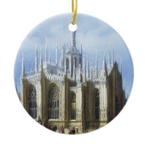 View of the back of Milan Cathedral from 'Views of Ceramic Ornament
