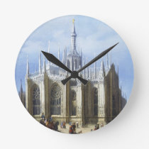 View of the back of Milan Cathedral from 'Views of Round Clock